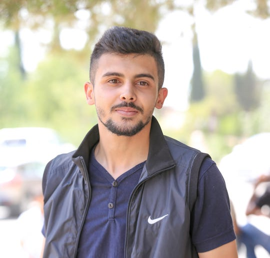 Kassam Mtoor, a law student and president of the student council at Birzeit University, on Sept. 11, 2019.