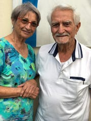 Avigail, left, and Yossi Ben Nun, outside their temporary home the Neve Tzuf settlement in the West Bank, on Sept. 9, 2019.