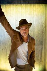"""Brad Pitt finds himself reflecting on fatherhood, both as a son and a dad, with his new film """"Ad Astra."""""""