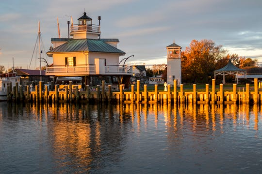 St. Michaels, Maryland, on a Chesapeake Bay tributary, sees maritime visitors year-round, but autumn's particularly special with the changing of the leaves.