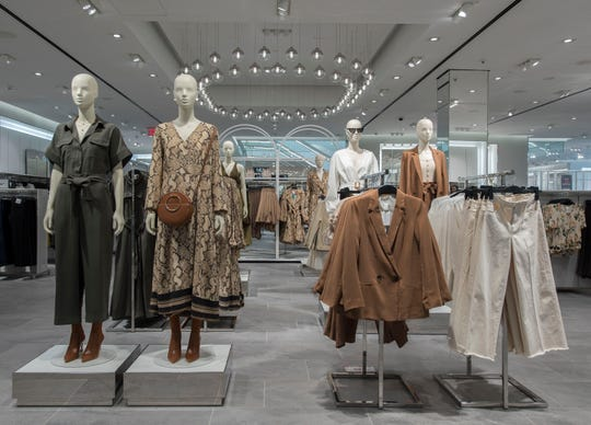 Mannequins at the front of the new H&M store in the Fox River Mall will wear the latest trends. Shown here, a similar H&M store in New York.