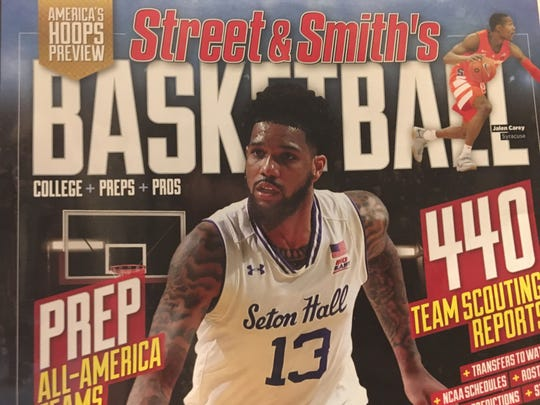 Seton Hall's Myles Powell on the cover of Street & Smith's college basketball preview.