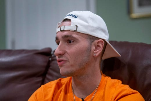 Mike Maestri of Freehold started vaping when he gave up smoking cigarettes, thinking it was a safer alternative. When he started feeling very sick, he went to the hospital and discovered he had bilateral pneumonia. Photos taken in Freehold Township on September 19, 2019.