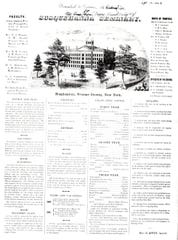 An overview of the new Susquehanna Seminary in the 1850s.