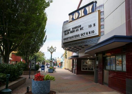 The historic Roxy Theater in downtown Bremerton on September 19.