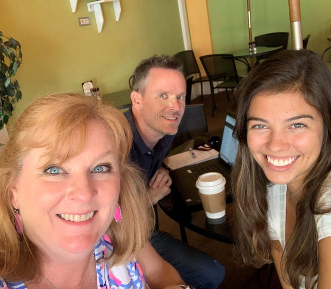 When working from home gets lonely, it's nice to meet up with colleagues at places like Ossorio in Cocoa Village. From left are Suzy Fleming Leonard, Rick Neale and Antonia Jaramillo.