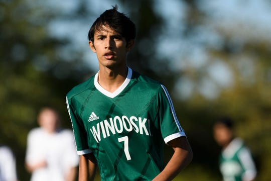 Winooski's Lek Nath Luitel (7) in action during the boys soccer game between Oxbow vs. Winooski at Winooski High School on Wednesday afternoon September 18, 2019 in Winooski, Vermont.