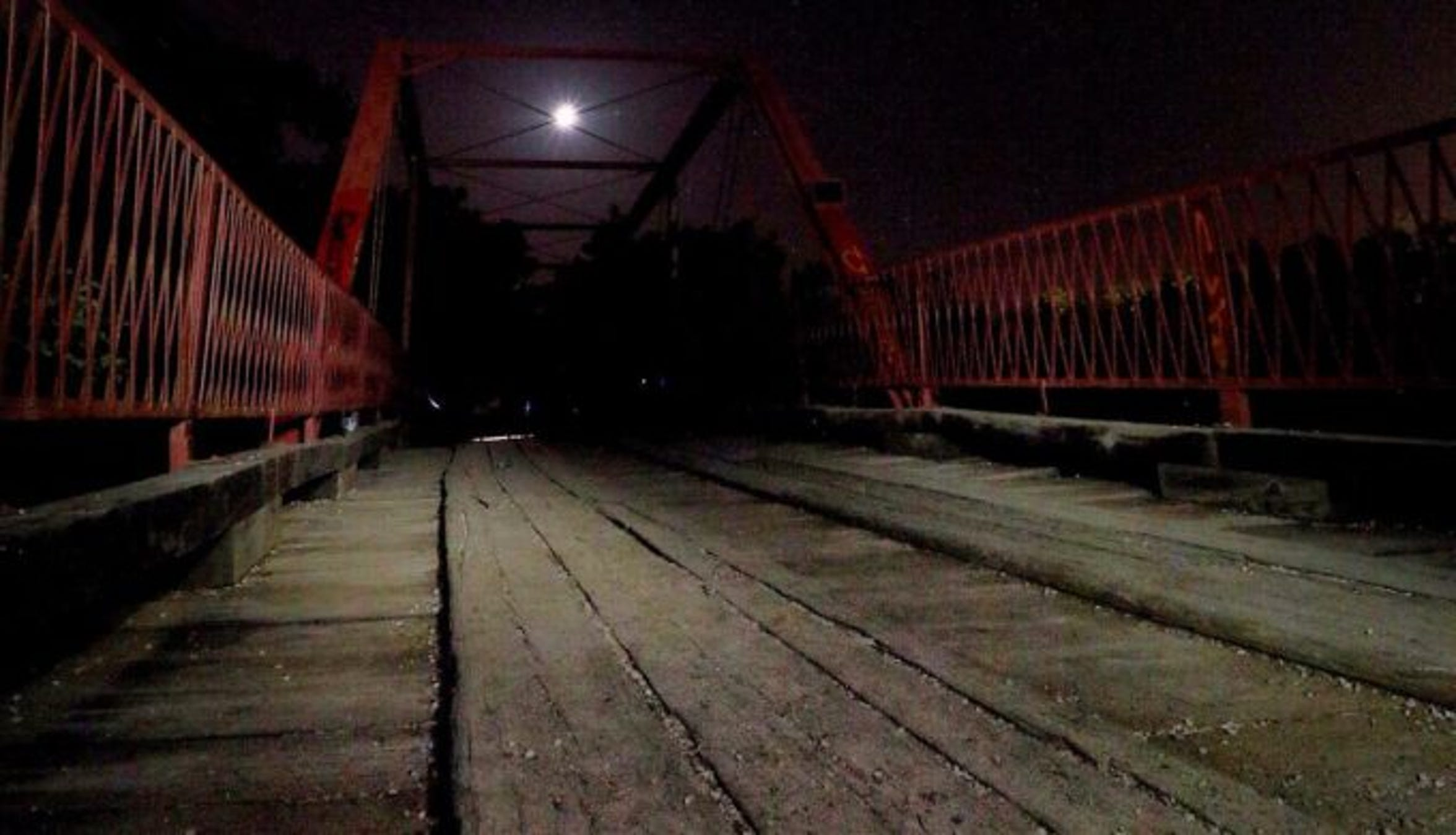 Old Alton Bridge, also known as Goatman's Bridge, in Denton