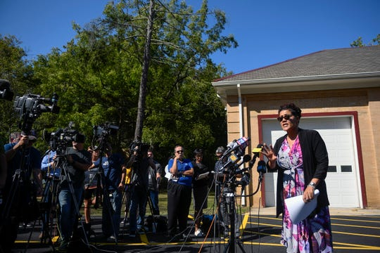 Cumberland County Prosecutor Jennifer Webb-McRae addresses members of the media about missing girl Dulce Maria Alavez Thursday, Sept. 19, 2019 in Bridgeton, N.J.