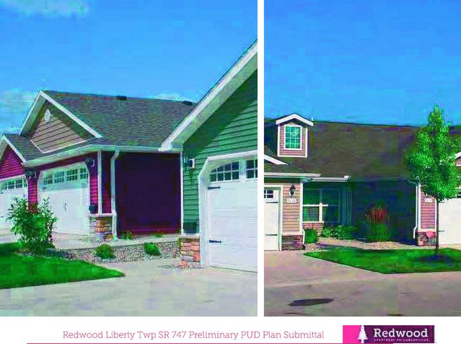 Liberty Township trustees rejected a zone change that would have allowed Redwood to build 170 single-family apartments along Ohio 747.