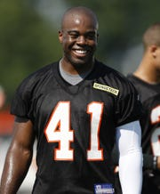 Chinedum Ndukwe during the first day of training camp with the Cincinnati Bengals in July 2009.