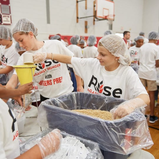 Rutgers Preparatory School partners with Rise Against Hunger to package more than 50,000 meals for hunger relief effort.