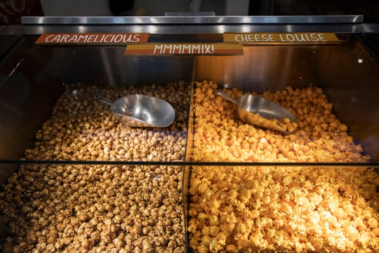 Caramelicious and Cheese Louise mix popcorn at Brown Bag Popcorn at Somerset Collection Mall in Troy, Thursday, September 19, 2019.