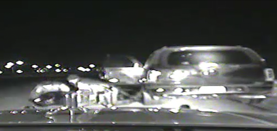 Screen capture of dash cam video showing Michigan State Police troopers arresting Jason Spicer during a traffic stop in Royal Oak on December 28, 2017.
