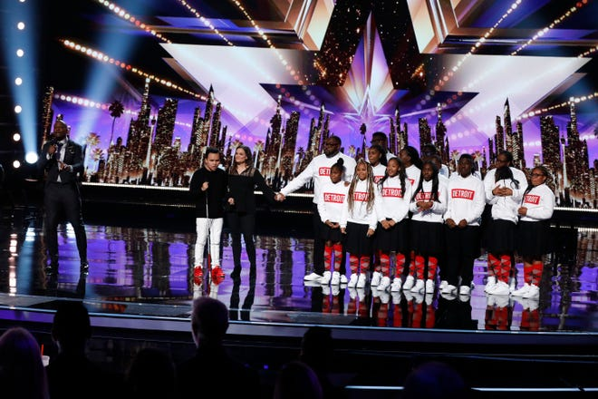 Singer Kodi Lee and the Detroit Youth Choir wait to find out who'll be NBC's 'America's Got Talent' winner on the Sept. 18, 2019 results show.