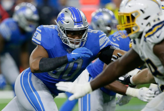 Lions defensive end Trey Flowers has three tackles -- none for a loss -- in his first two games this season.