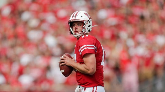 Wisconsin quarterback Jack Coan has completed 76 percent of his passes to open the season.