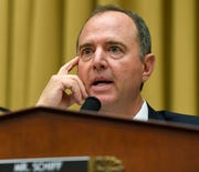 In this July 24, 2019, file photo, House Intelligence Committee Chairman Adam Schiff, D-Calif., speaks during a hearing on Capitol Hill. The chairman of the House intelligence committee has issued a subpoena to the acting Director of National Intelligence, saying that he is withholding a whistleblower complaint from Congress.