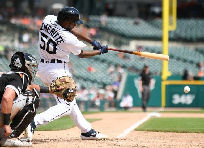 Tigers' Travis Demeritte entered play Thursday hitting .204 against fastballs.
