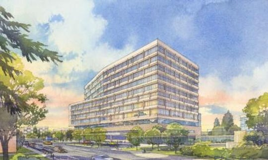 The new 12-story hospital will house 264 private rooms capable of converting to intensive care, a state-of-the-art neurological and neurosurgical center, high-level, specialty care services for cardiovascular and thoracic patients, along with advanced imaging.