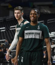 Point guard Cassius Winston (5) returns to lead Michigan State, the potential preseason No. 1 team in the country.