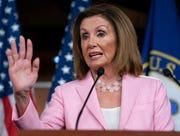 On this Sept. 12, 2019, photo, House Speaker Nancy Pelosi, D-Calif., speaks at the Capitol in Washington.