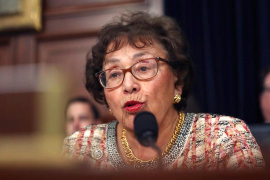 In this April 9, 2019, file photo, Rep. Nita Lowey, D-N.Y., speaks during a hearing on Capitol Hill in Washington. Democrats controlling the House are proposing a government-wide temporary funding bill to prevent a federal shutdown at month's end and to give the slow-moving Senate time to act on $1.4 trillion worth of spending bills that fill in the details on this summer's bipartisan budget and debt deal.