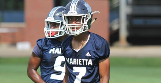 Receiver Ricky White, a Michigan State commit, has scored touchdowns in a variety of ways for Marietta (Ga.) High.