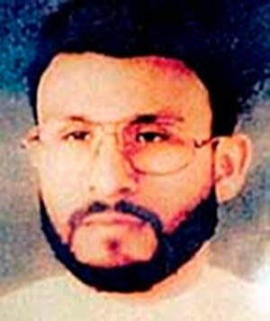 This undated file photo provided by U.S. Central Command, shows Abu Zubaydah, date and location unknown.