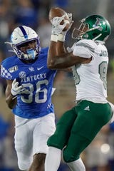 Wide receiver Arthur Jackson III (89) has a pair of touchdown catches in Eastern Michigan's first three games this season.