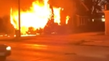 Submitted video by Mike St. Mary shows the Military Road house fire where three people died Thursday, September 19, 2019.