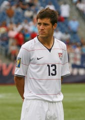Fort Collins native Colin Clark of USA stands during pre-game activities before a game against Haiti during 2009 CONCACAF Gold Cup competition at Gillette Stadium on July 11, 2009 in Foxborough, Massachusetts. It was Clark's debut for the U.S. national team.