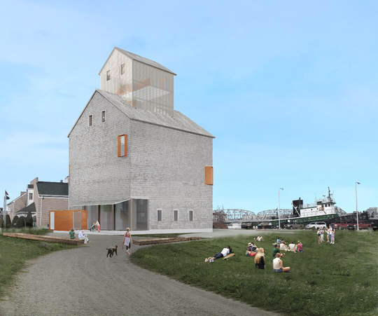 Preliminary Concept Design by LA DALLMAN Architects, under review with State Historical Preservation Office.