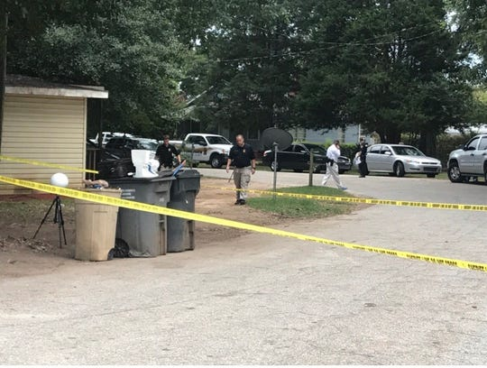 Greenville County Sheriff's deputies investigate a shooting at West Wilbur Street on Thursday, Sept. 19, 2019