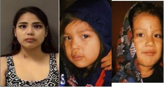 A Missing Endangered Person Alert was issued by the Montana DOJ for Armando Sylvester Salcido Jimenez, 4, middle, and 3-year-old Andrew Salcido Jimenez Jr., right, who are thought to have been taken by their non-custodial parent, Tanishia Rue Brady, 22, left, this afternoon in Billings.