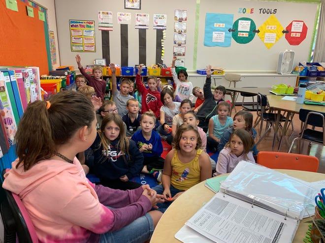 Jean Smith, third-grade teacher at Meadowlark Elementary, has 27 students.