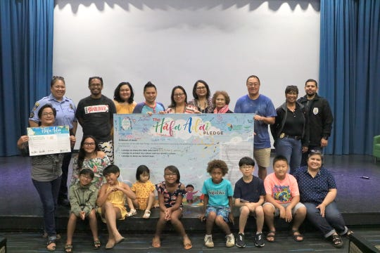 The Guam Visitors Bureau joined Hafa Adai pledge member, Guam Museum, alongside the Guam Fire Department, Guam Police Department, and the Office of the Attorney General of Guam in welcoming participants of the Guam Museum: Ha'anen Familia safety event into the Hafa Adai Pledge Program.