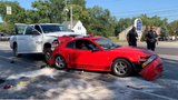 A husband and wife were taking their dog to their veterinarian for emergency surgery when their car was struck from behind.