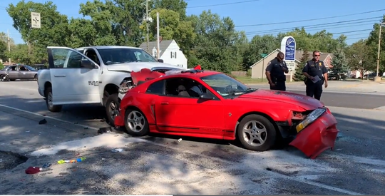 A dog died and four people were injured after a multi-vehicle crash on the west side of Indianapolis Thursday morning, Capt. Mike Pruitt with the Wayne Township Fire Department said.