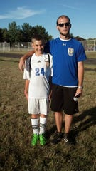 Zack Bell (left) and Dean Suddarth (right) have a close bond on and off the soccer field.