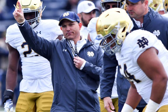 Notre Dame director of football performance Matt Balis put players through intense workouts this offseason with preparation for road games a key element.
