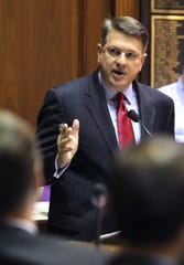 Republican attorney Peter Rusthoven speaks at an Indiana House Judiciary Committee hearing in 2014.