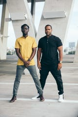 Wil B. (left) and Kevin Marcus (right) are the two classically train violinist who compose the hip-hop group Black Violin.