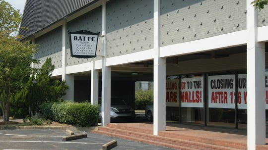 Batte Furniture & Interiors is located on Northside Drive in Jackson, Miss. The store will be closed for several days beginning Thursday, Sept. 19, 2019, as employees make arrangements to hold a going-out-of-business sale. The family-owned business opened 136 years ago.