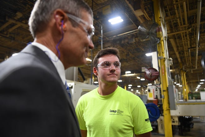 Hardne Lane is one of many students of L.O.O.P. (Local Options and Opportunities Program) at Stanley Black & Decker in Jackson, Tenn.