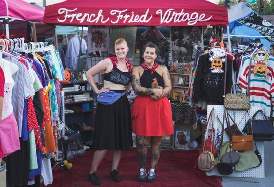 Jenny Salata and April Burger at Punk Rock Flea Market Knoxville. Sept. 2017.
