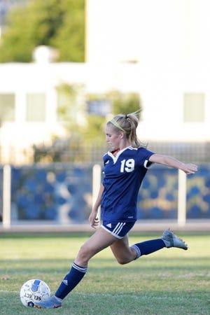 Caroline Lutz has 27 goals and 20 assists this season for Class A No. 1 Central Catholic.