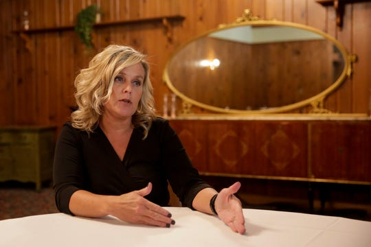 State Superintendent Jennifer McCormick talks about the Red for Ed movement, ILEARN results and her event in West Lafayette Thursday evening, Thursday, Sept. 19, 2019 at The Trails Banquet Facilty in West Lafayette.