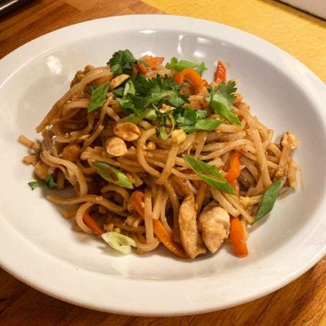 A quick pad thai recipe should pass the teenager test on a weeknight.