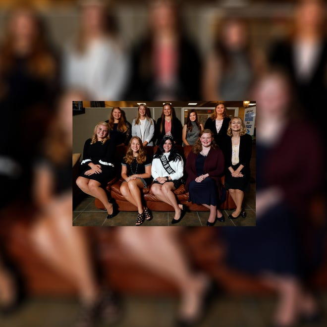 Back row (left to right): Lillian Hyme, Syndey Sharp, Alyssa Swick, Emma Stephens and Jordyn Nevers. Front row (left to right): Tatum Campbell, Lauren Young, Hayley Richardson, Carline Mason and Sara Hayes.